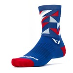 Swiftwick Vision Geo Five Socks - Blue/Red