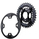 Truvativ X9 Spider Kit 36/22 10 s Chainring - Black