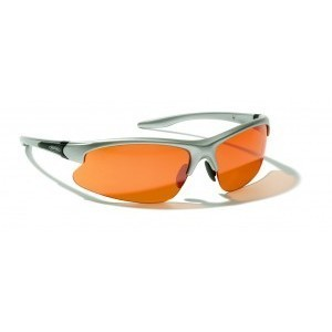 Cyclist glasses :: Lunette de soleil Alpina Dribs monture argent, verres orange