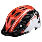 Alpina Rocky Kids Bike Helmet - Red/White/Black