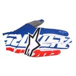 Alpinestars Rover Long MTB Gloves - Royal Blue/White/Alpinestars Red