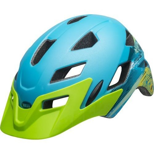 Bell Sidetrack Child Helmet - Matte Bright Blue/Bright Green