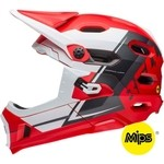 Bell Super DH MIPS Helmet - White/Red/Black