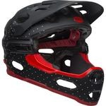 Bell Super 3R Helmet - Matte Black/White/Crimson