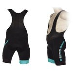 Bianchi Hexagon Bibshort - Black/Celeste - 2018