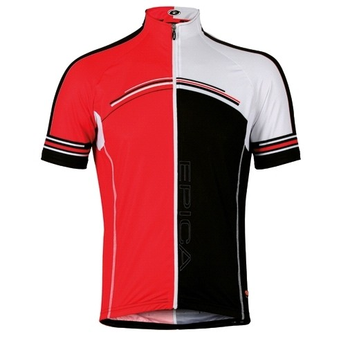Men Jersey  :: Jersey Bicycle line Epica 2012 (Red/Black)