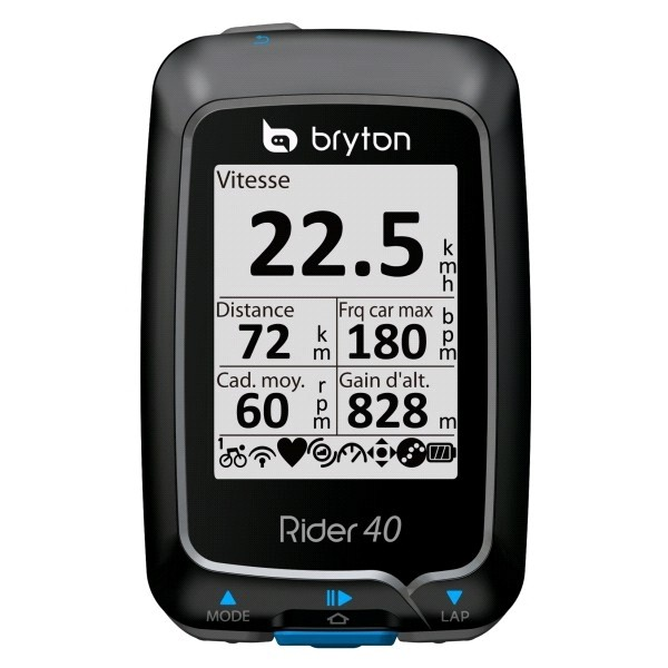 GPS Bicycle :: Bicycle GPS Bryton Rider 40 T Cad & heart monitor
