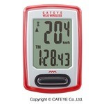 Cateye Velo Wireless CC-VT 230 W Bike Computer - White/Red