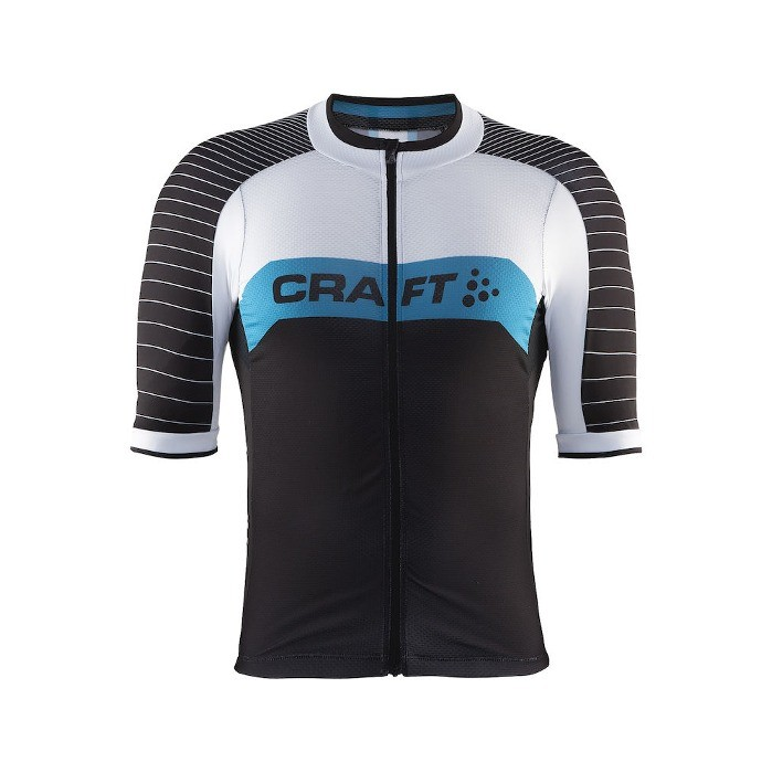 Craft Gran Fondo Jersey - Black/White/Turquoise