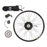 Ebike75 Kit Ibex 350W Rear Engine Mavic Rim 27.5 D XM 319 Disc 16 Black