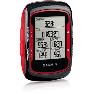 Bicycle GPS Garmin Edge 500 Red (HRM + CAD)
