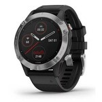 Garmin Fenix 6 GPS Watch - Silver-Black