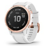 Garmin Fenix 6S Pro GPS Watch - Gold Pink - White