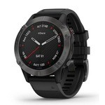 Garmin Fenix 6 Sapphire GPS Watch - Carbon Gray-Black