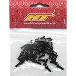 HT Components AE02/ME02 Pedal Pin Kit - Black