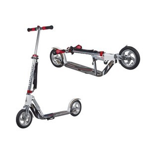 Hudora Big Wheel Air City Scooter -  alu 8 Air205 White/Silver