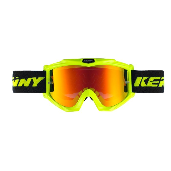 Kenny Track+ Neon Yellow Goggle - Orange Iridium