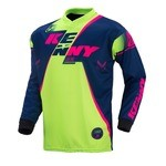 Kenny Track LS Jersey - Blue/Lime/Neon Pink