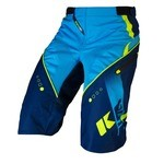 Kenny Track Short - Blue/Cyan/Neon Yellow
