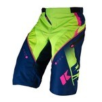 Kenny Track Short - Blue/Lime/Neon Pink