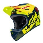 Kenny Downhill Fullface Helmet - Yellow Fluo/Navy
