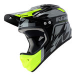 Kenny Downhill Graphic Full-Face Helmet - Black-Neon Yellow