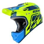 Kenny Downhill Graphic Full-Face Helmet - Blue-Neon Yellow