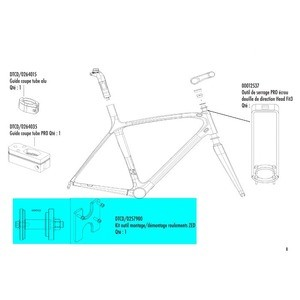 Tool for mounting and dismounting Look ZED 1 & ZED 2 crankset bearings