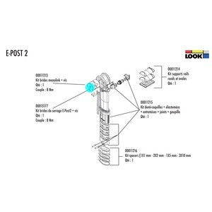 Look Seatpost E-Post 2 Clamps Kit - 00013177