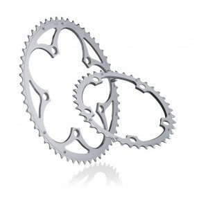 Chainring Road :: Miche Chainring Supertype 130 9/10S Shimano Outer Silver