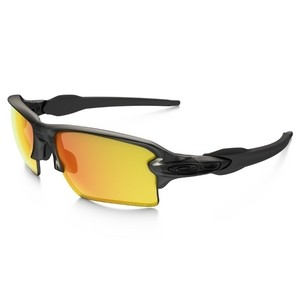 34716d13f49 Oakley Flak 2.0 XL Matte Grey Sunglasses - Fire Iridium Polarized - XXcycle  - en