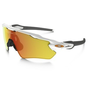 afe02905d3 Oakley Radar EV Path Polished White Sunglasses - Fire Iridium - XXcycle - en