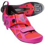 Pearl Izumi W Tri Fly V Carbon Pro Series Triathlon Bike Shoes - Pink/Orange