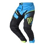 Pull-In Race BMX Pants - Cyan/Lime/Black