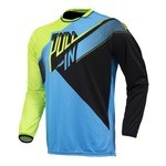 Pull-In Race BMX LS Jersey - Cyan/Lime/Black