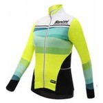Santini Coral FW216175CORAL Winter Jersey - Fluo Yellow