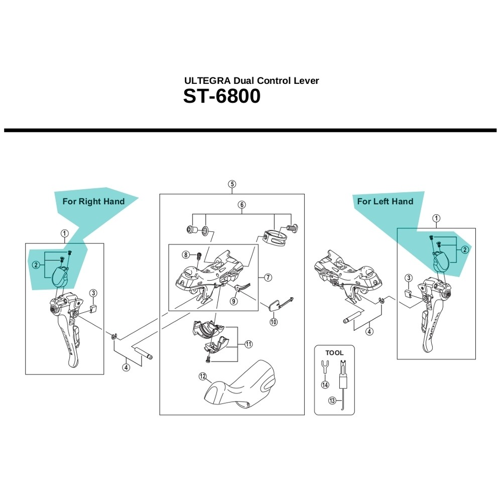 Shimano Ultegra ST6800 Name Plate & Fixing Screws - [x1]