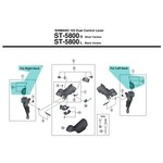 Shimano 105 ST5800 Name Plate & Fixing Screws - [x1]