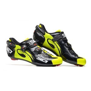 Sidi Wire carbon Shoes Black/Highlight Yellow 2018