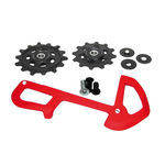 SRAM X01 Eagle Derailleur Pulleys and Internal Cleis - Red