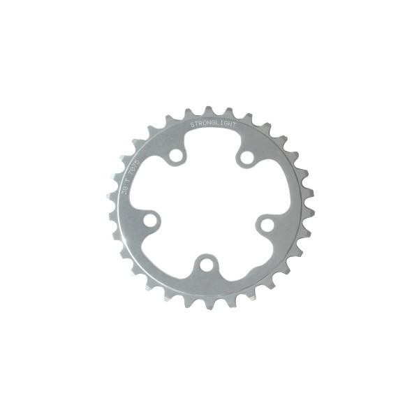 Stronglight Type S 7075-T6 Shimano 74 mm 9/10 Inside Position Chainring - Silver