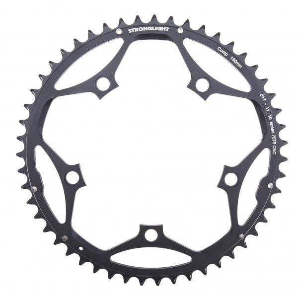 Stronglight Type S 7075-T6 Shimano 130 mm 10/11 Outside Chainring - Black