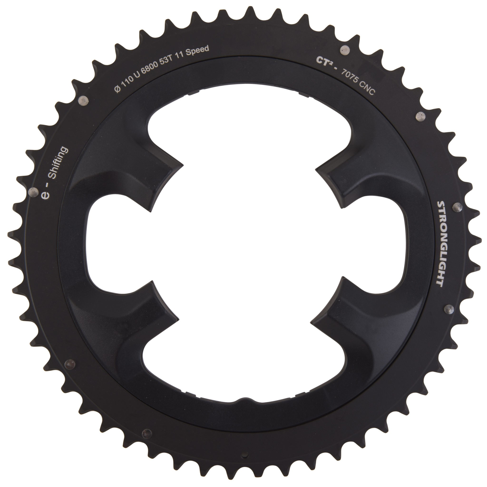f4be34d7ab2 Stronglight E-Shifting CT2 Shimano Ultegra FC-6800 110 mm Outside Chainring  - Black