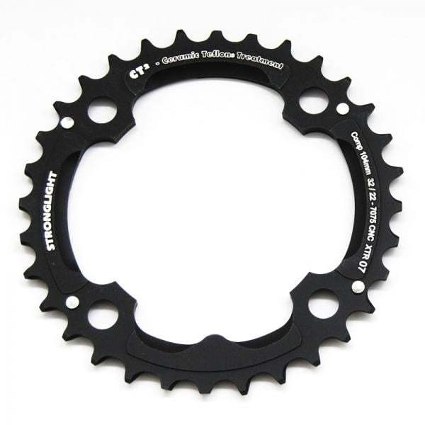 Stronglight MTB Type CT2 Shimano XTR FC-M970 104 mm 9 s Middle Triple Chainring - Black