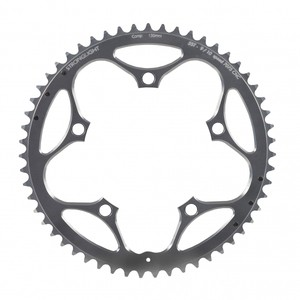 Chainring Road :: Stronglight Type S 7075-T6 Shimano 130 mm 9/10 Outside Chainring - Silver