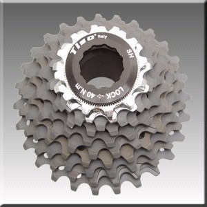 Sprocket Tiso Ergal 10 v Shimano (12-25)