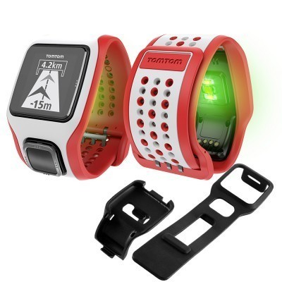 TomTom Multisport Cardio GPS Watch White/Red