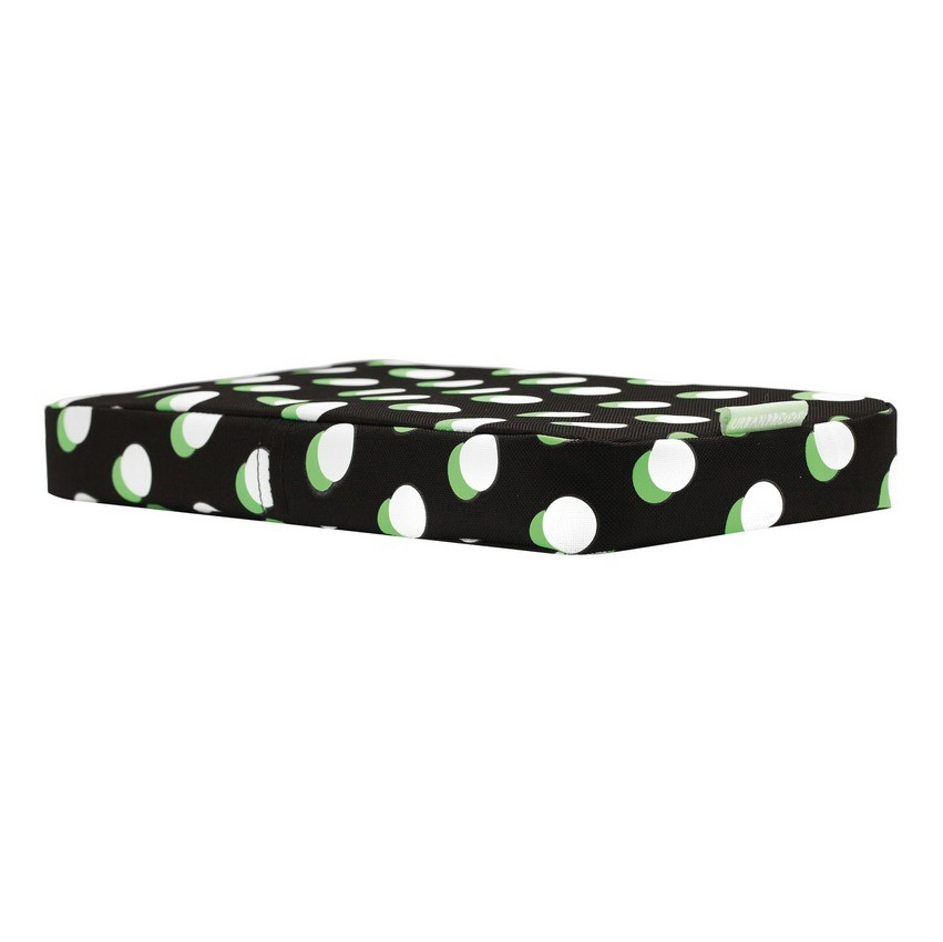 Urban Proof Backseat Pillow Black - White Spots/Green
