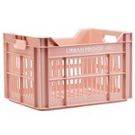 Urban Proof Front/Rear recycled plastic Bicycle Crate - 30 l - Pastel Pink
