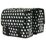 Pair of Urban Proof Rear Panniers 40L Dots Black/White